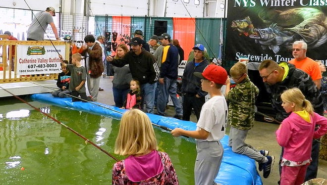 The fishing pond is a popular feature of the annual Southern Tier Outdoor Show.