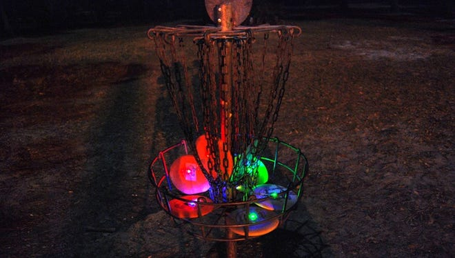 Ruidoso Parks and Recreation Department is set to host its first glow-in-the-dark disc golf tournament at 7:30 p.m Friday at the Grindstone disc golf course.