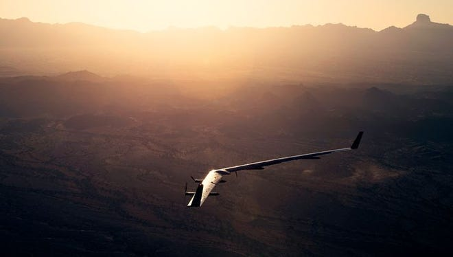 Facebook's Aquila aircraft successfully completed its second full-scale test run May 22 in Yuma, Ariz. The unmanned solar-powered aircraft aims to provide broadband Internet service within a 60-mile radius of its flight plan.