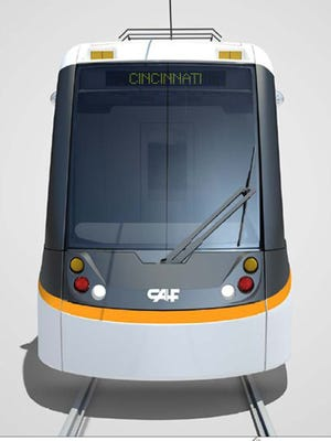 CAF USA's rendering of the Cincinnati streetcar vehicle.