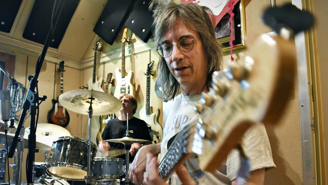 """The Fabulous Armadillos drummer Jay O'Donnell and bass player Mike Zeleny rehearse Thursday for their upcoming """"Sounds of Summer"""" show at Pioneer Place on Fifth."""