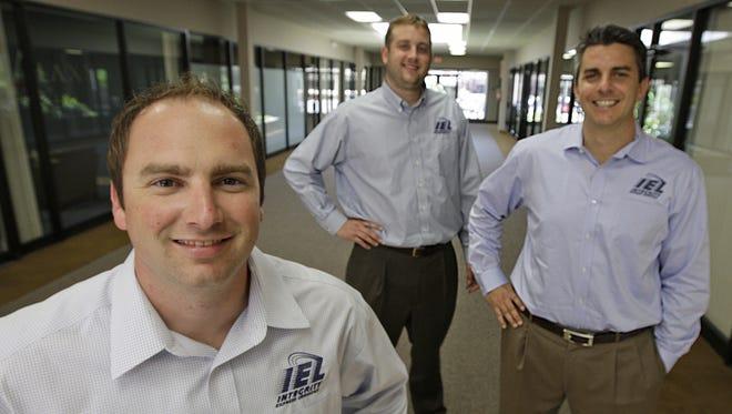 The management team of Integrity Express Logistics, from left, James Steger, Pete Ventura and Matt Ventura.