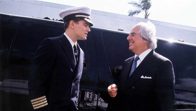 "Leonardo DiCaprio, left, starred as Frank Abagnale (right) in the motion picture ""Catch Me if You Can."""