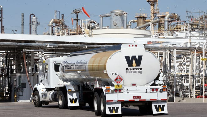 Five shareholders are now seeking to halt the proposed sale of Western Refining, which operates an El Paso refinery, pictured here, to Tesoro Corp., of San Antonio.