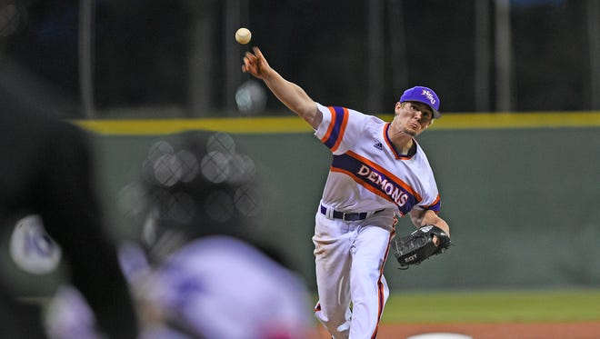 Northwestern State pitcher Nathan Jones went eight inning to earn his second win of the season.