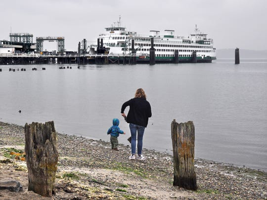A ferry awaits at Ship Bay in Washington near Anacortes. An hour float will get you to Orcas Island.