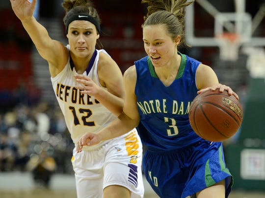 Carli Borseth (3) is among the players who are expected to have expanded roles this season for Notre Dame.