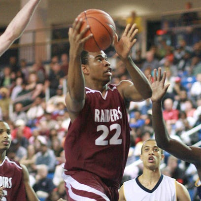 Quincy Pettiford drives during a 2010 state semifinal