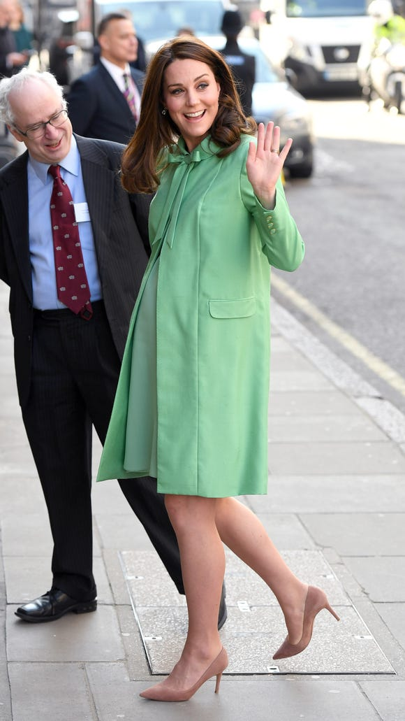 Kate is really embracing the springtime with this pastel
