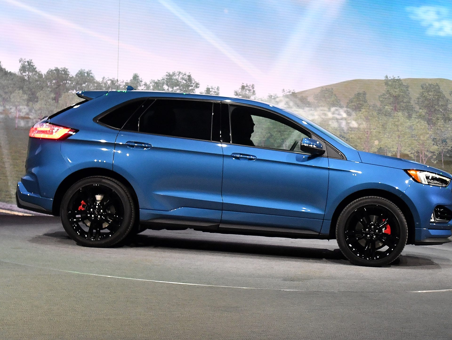 The  Ford Edge St Is Introduced On Stage At The