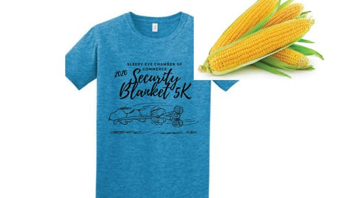 Do you need this shirt? (Yes, you do.) There is only one way to get it -- sign up for the Sleepy Eye 2020 Security Blanket 5K!