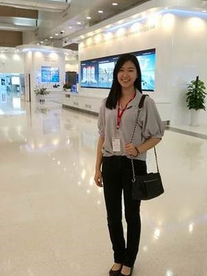 Alice Zhang, a resident of Bridgewater, visited Huawei headquarters in China as part of the company's Seeds for the Future summer program.