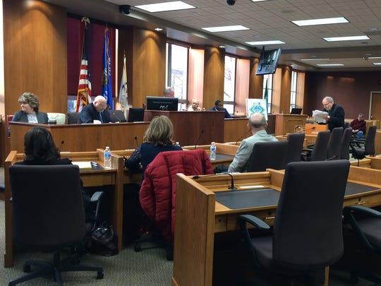 The Green Bay Ethics Board considers a complaint against Alderman Guy Zima on Feb. 28, 2018.