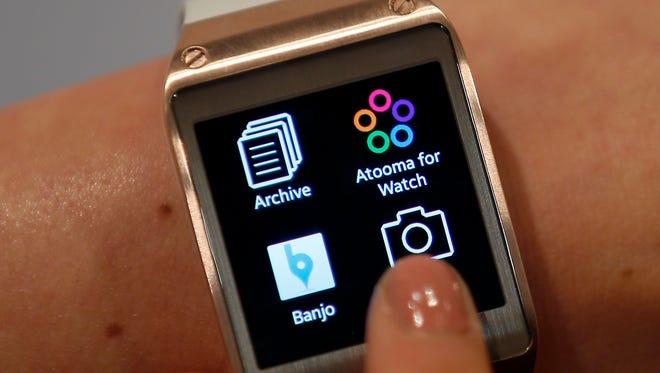 Samsung Galaxy Gear smartwatch in Berlin, Germany.