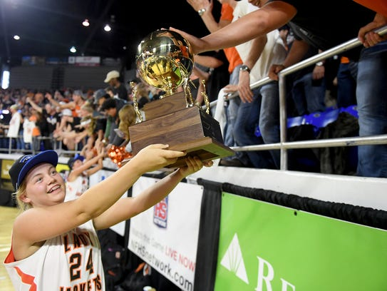 Greenfield's Anna Dale Wright walks the 2018 TSSAA
