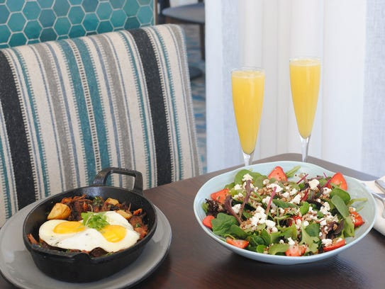 Easter brunch items at Hearth '61