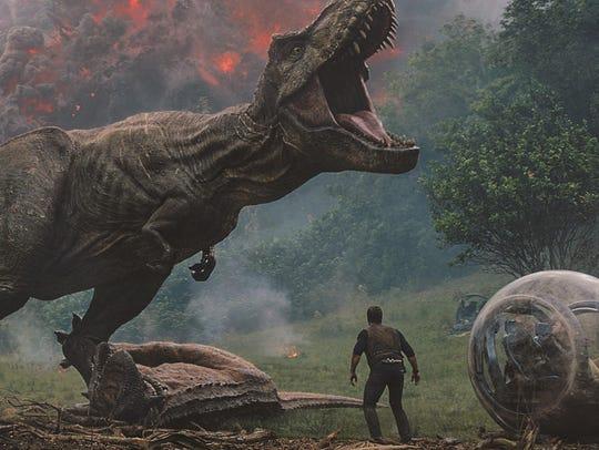 """Chris Pratt meets a T. Rex in """"Jurassic World: Fallen"""