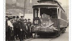 1922: STREETCARS The Vine-Burnet streetcar No. 46 was