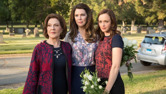 """Emily (Kelly Bishop, from left), Lorelai (Lauren Graham) and Rory Gilmore are back in Netflix's """"Gilmore Girls - A Year in the Life."""""""