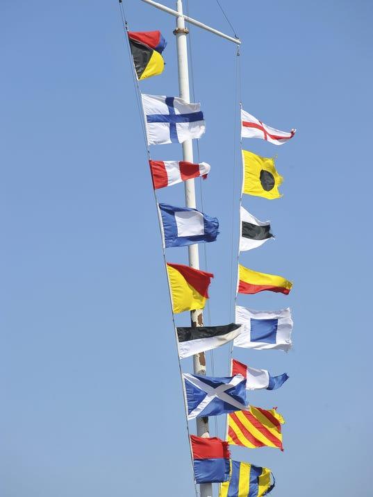 Proper flag display is a sign of a true sailor for Proper us flag display