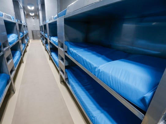A look at the bunks at the new temporary Greene County