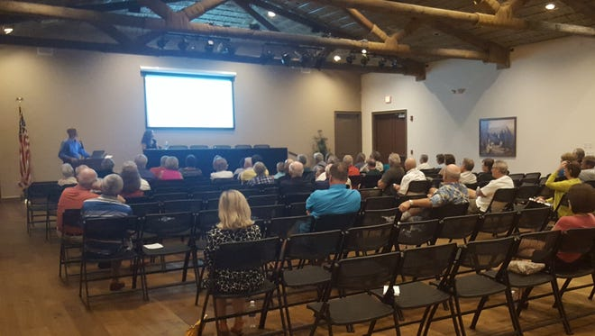 The developer of the Veterans Community Park hotel project hosted two town hall meetings this week on Monday and Wednesday at 5:30 p.m. in Rose History Auditorium. The purpose of the meetings was to answer questions, squash rumors and increase understanding – and hopefully support – of the project.