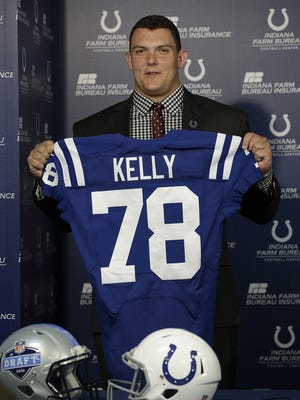The Indianapolis Colts first round draft pick in the 2016 NFL Draft Ryan Kelly, center from the University of Alabama, meets with the local media Friday, Apr 29, 2016, afternoon at the Colts Complex.