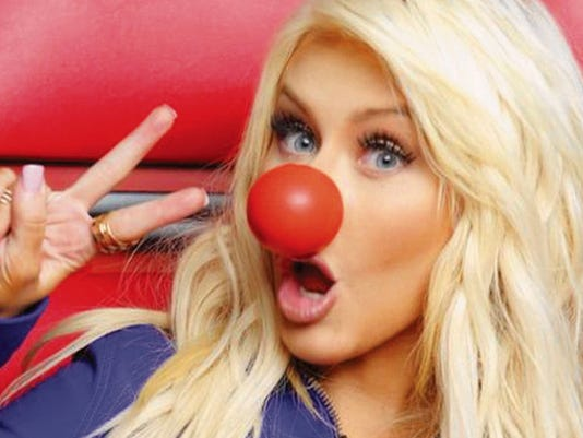 Christina Aguilera is one of the national music celebrities and film stars throwing their support behind Red Nose Day.