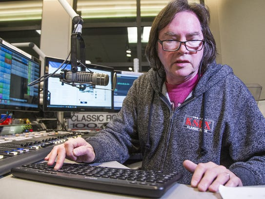 KSLX radio personality Russ Egan works during his show