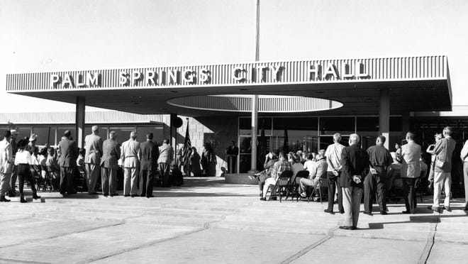 Palm Springs City Hall, dedicated in 1957, is one of many buildings included in a citywide survey of historic sites.