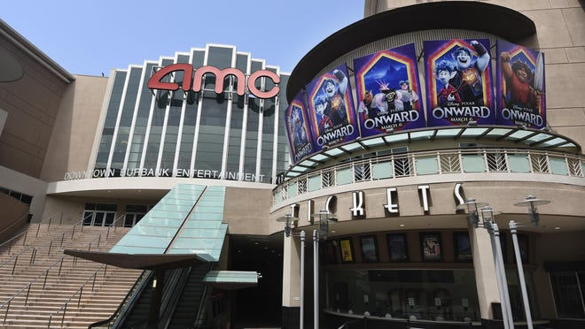 Like most movie theaters around the country, AMC Burbank's 16-screen complex in Burbank, California, is still shuttered. After several false starts, the film industry is hoping to bring new releases back into theaters in late August.