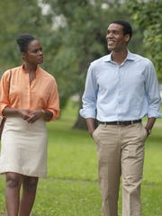 "Tika Sumpter and Parker Sawyers in ""Southside with You."""