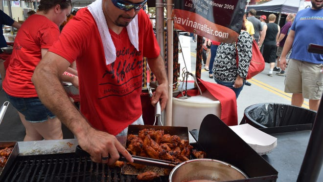 The Biggest Little City Wing Fest runs July 2-4 in downtown Reno with about 25 cookers from across the country.