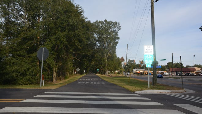 The section of the Longleaf Trace east of Hutchinson Avenue will soon receive some new fencing.