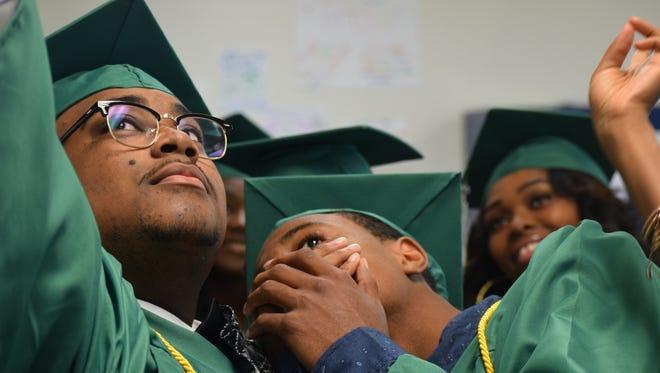 File photo of LEAD Academy High School seniors at a 2016 graduation.