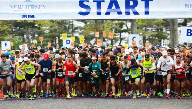 Monmouth Park Race Track in Oceanport hosted the start of the New Jersey Marathon in May 2016.