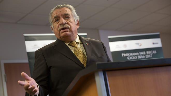 Mexican Consul Efrén N. Leyva Acevedo speaks on Thursday at San Juan College in Farmington.