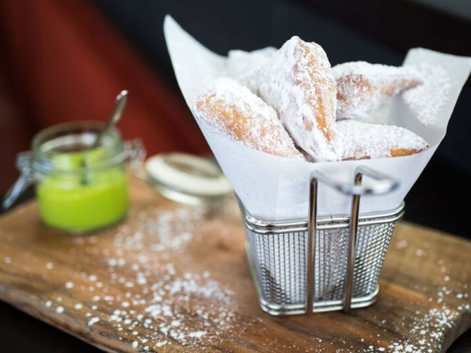 In true state fair fashion, FIRE restaurant at the ART hotel in Denver, offers a playful Basket of Beignets. Airy and sweet, guests will appreciate these fried dough bites dusted with confectioner's sugar.  the ART, a hotel