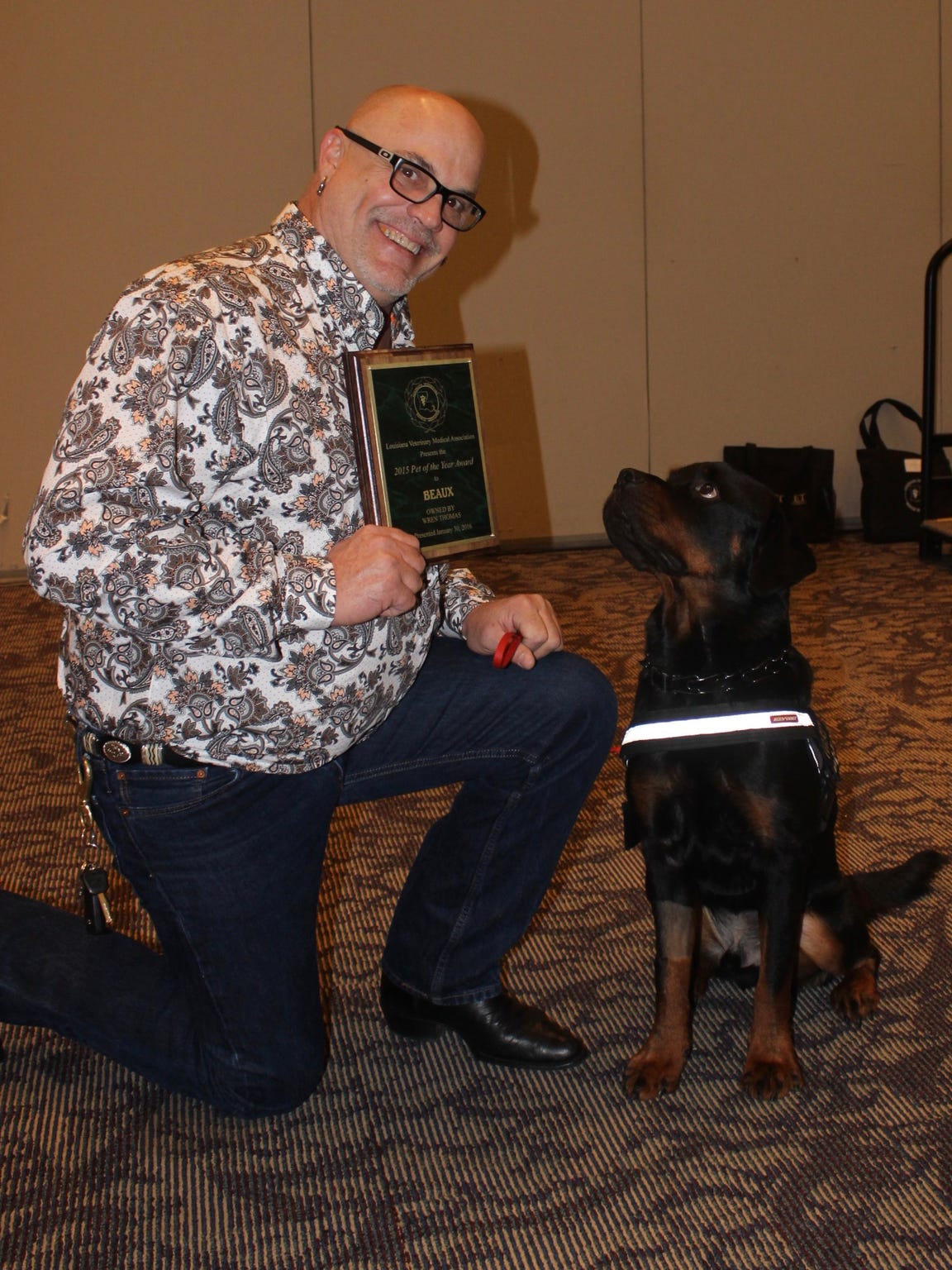 Wren Thomas' service dog, Beaux, was named Pet of the