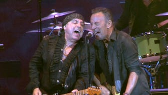 2017: Steven Van Zandt (left) and Bruce Springsteen at the Paramount Theatre in Asbury Park on April 22, 2017.
