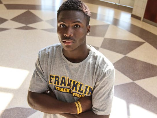Franklin's Mario Heslop is the Courier News Boys Indoor