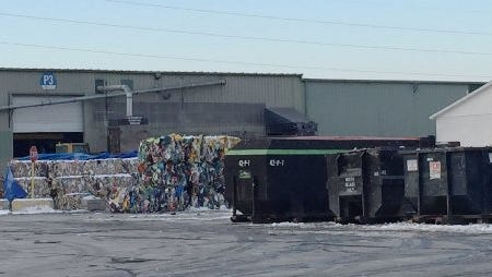 The body of a newborn baby was found at ReCommunity Recycling, 30165 Groesbeck, in Roseville, on Jan. 14, 2015, among recyclable materials.