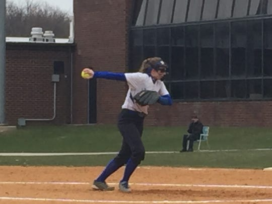 North Brunswick's Tara Jennings pitches against Sayreville