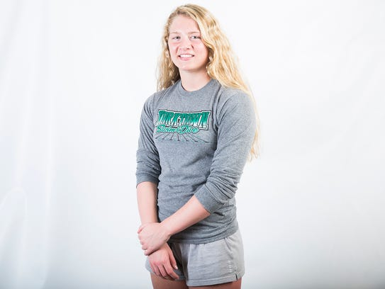 Yorktown's Emily Weiss for AOY 2018. Athlete of the