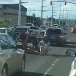 Fight at Harmon intersection