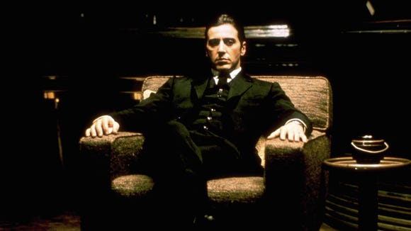 """Al Pacino as Michael Corleone in 'The Godfather"""""""