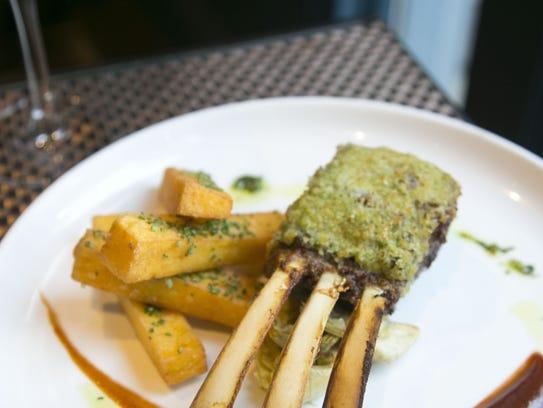 Parmesan Arugula Crusted Lamb Chops at Artizen at The