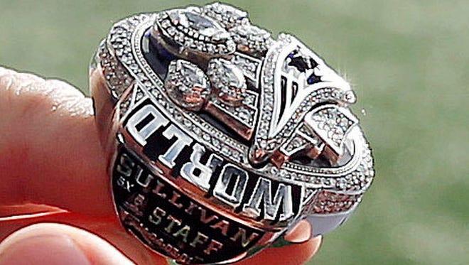 The Patriots' Super Bowl LI ring features 283 diamonds.