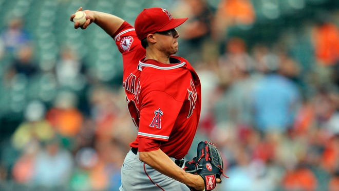 After missing all of 2015 recovering from Tommy John surgery, Angels pitcher Tyler Skaggs tossed seven shutout innings in his 2016 debut July 26.