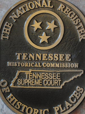This plaque has been placed in the foyer of the Tennessee Supreme Court in Nashville, marking its spot on the National Register of Historic Places.